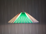 Mintgrön och vit takhängd stringlampa