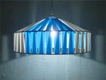 Stringlampan Yngve i blått och vitt